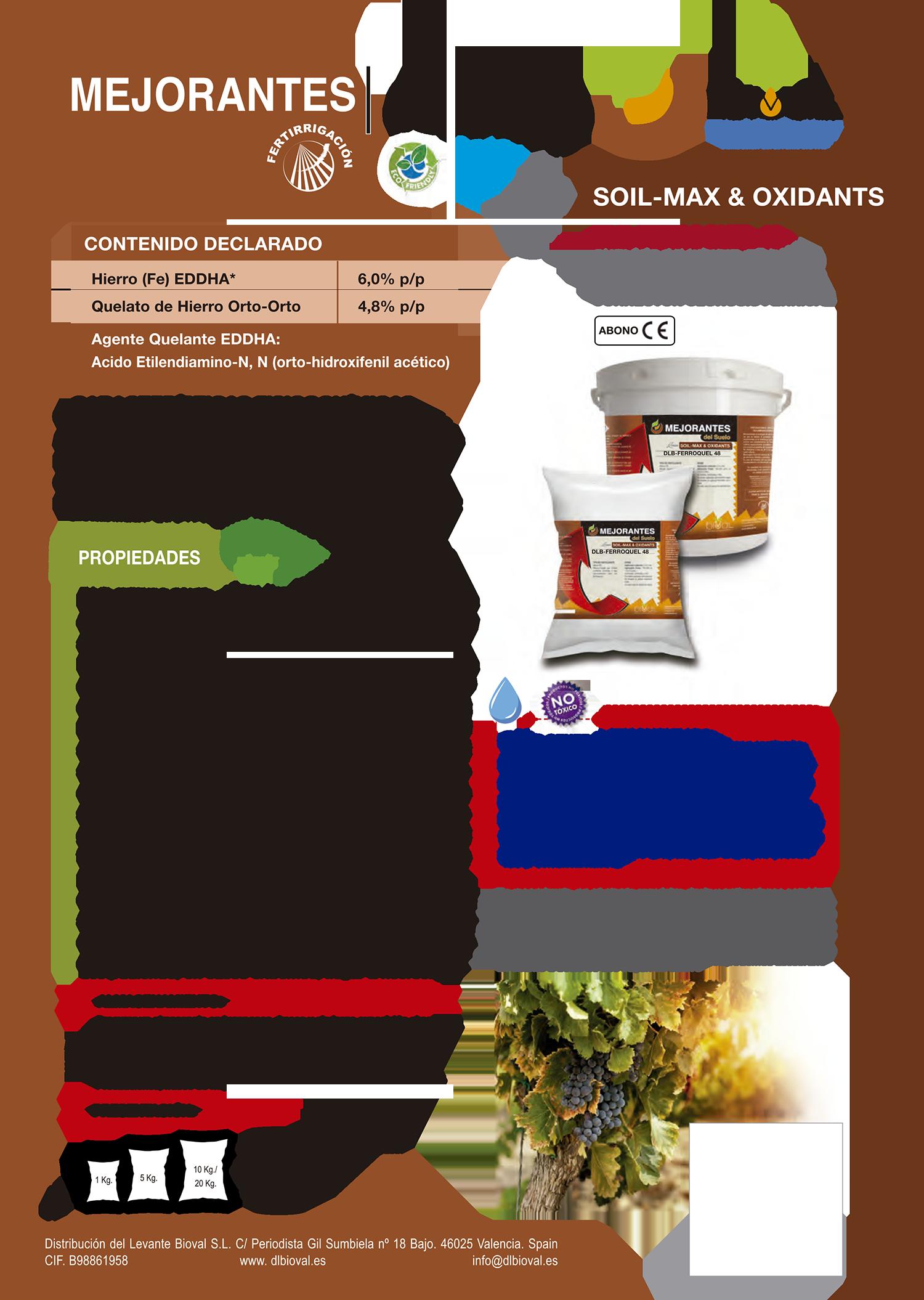 1DLB Ferroquel 48 - Línea Soil-Max & Oxidants