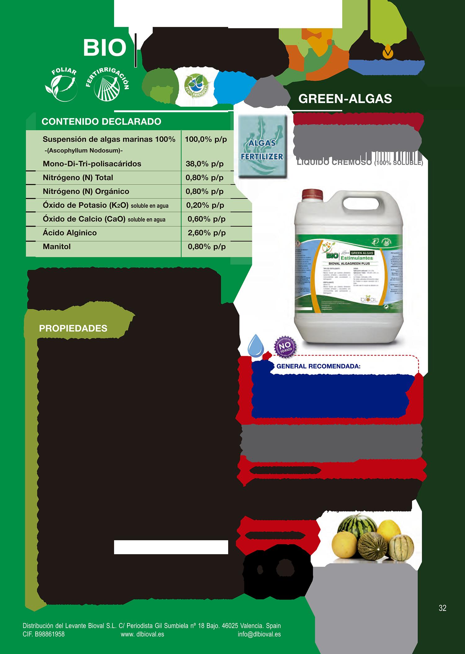 Bioval Algagreen Plus 1 - Línea Green Algas