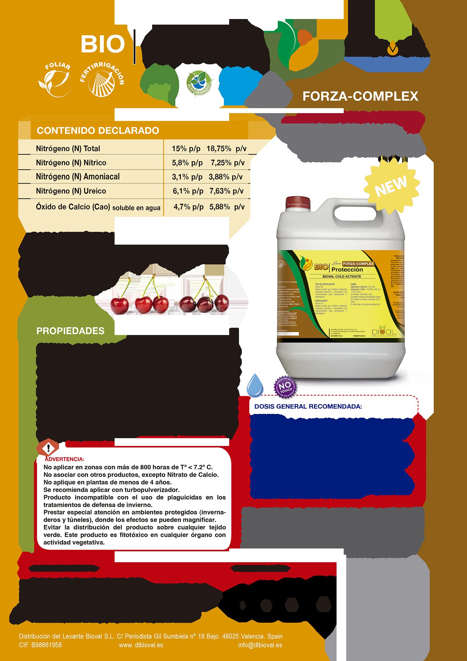 Bioval Cold Activate - Línea Forza Complex