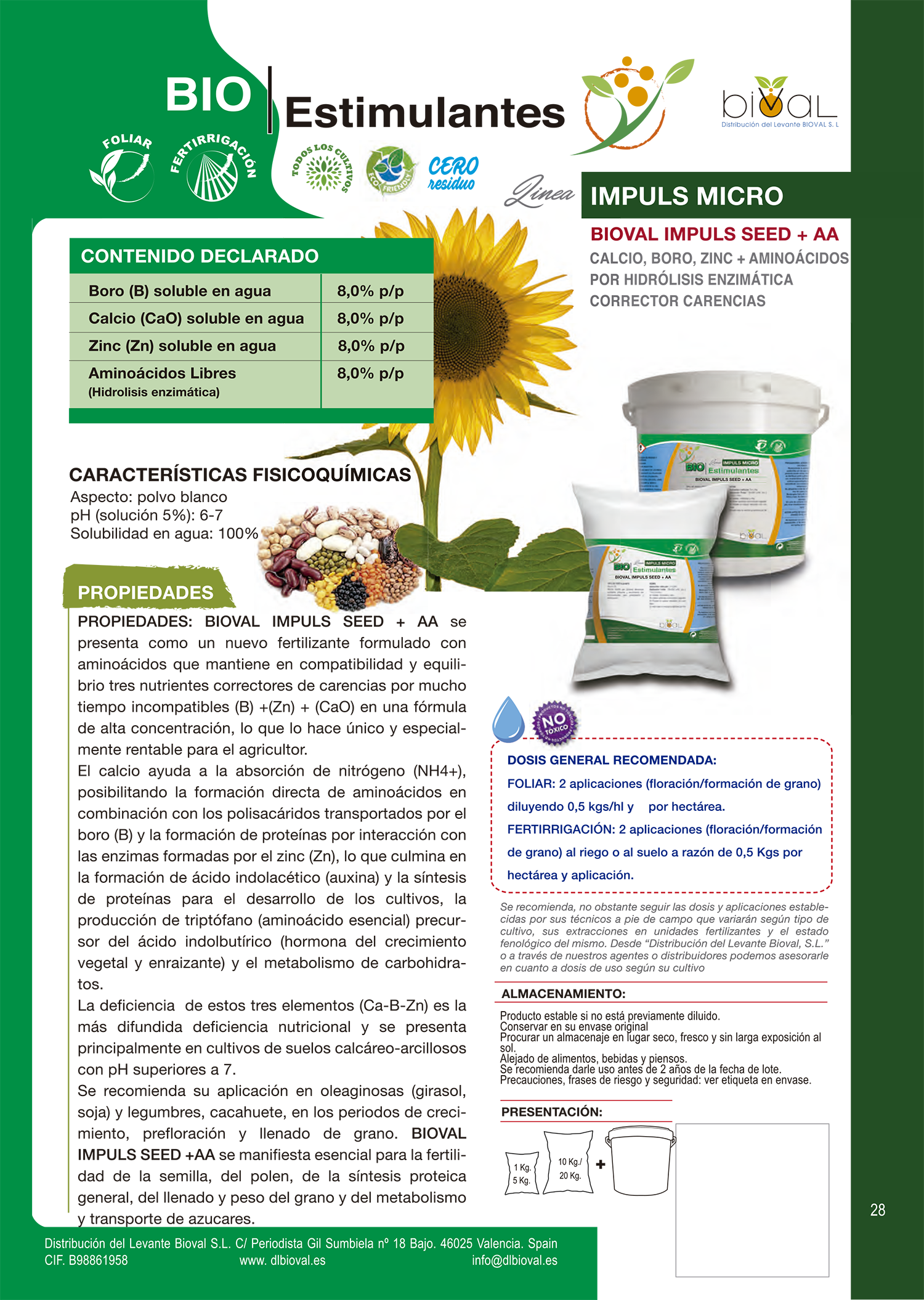 Bioval Impuls SeedAA 1 - Línea Impuls Micro